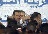 Syrischer Präsident Baschar al-Assad auf der IT-Messe in Damaskus, Foto: AP