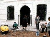 Renovierungsarbeiten nach dem Anschlag auf die Ghriba-Synagoge in Djerba vom April 2002, Foto: AP