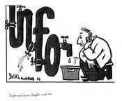 Karikatur von Chedly Belkhamsa aus Tunesien