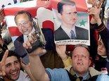 Pro-syrische Demonstration der Hisbollah in Beirut; Foto: AP