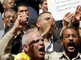 Anhänger der Kifaya-Bewegung demonstrieren gegen Mubarak und für politische Reformen in Ägypten; Foto: dpa