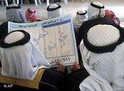 Sunnitische Muslime mit Wahlliste in Kirkuk; Foto: AP