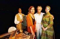Darsteller: Nina Herting, Mira Kaspari und Mathias Eysen, Musik und Gesang: Hanan El-Shemouty; Foto: www.spiritdialox.de