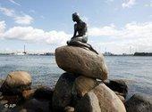 Die kleine Meerjungfrau in Kopenhagen; Foto: dpa