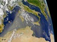 Satellitenaufnahme der Mittelmeeranrainer-Staaten, Foto: AP