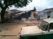 Zerstörte Moschee im nigerianischen Onitsha, Foto: AP