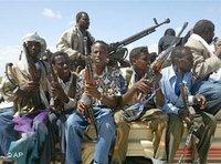 Somalische Milizionäre, Foto: AP