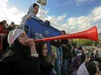 Weibliche iranische Fußballfans im Stadion; Foto: AP