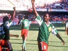 Roger Milla, kamerunischer Fußballspieler; Foto: dpa