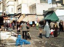 Straßenszene in Casablanca; Foto: dpa