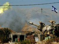 Israelische Artillerie schießt Richtung Südlibanon; Foto: AP