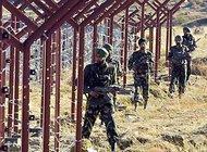 Indische Soldaten an der Grenze im Kaschmir; Foto: AP