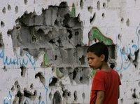 Junge im Gazastreifen; Foto: AP
