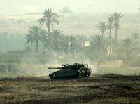 Israelischer Panzer im Gazastreifen; Foto: AP