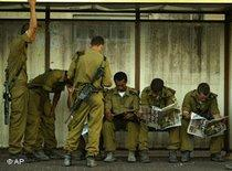 Israelische Soldaten in Haifa; Foto: AP