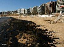 Ölpest am Beiruter Strand; Foto: AP