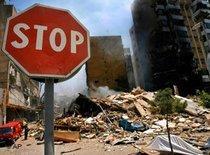 Stoppschild in Beirut; Foto: AP