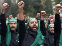 Schiitische Hisbollahanhänge während des Aschura Festes; Foto: AP