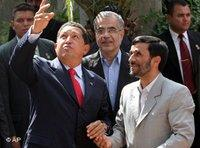 Venezuelas Präsident Hugo Chavez und Irans Präsident Mahmud Ahmadinedschad, Foto: AP