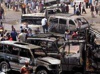 Anschlag im Bagdader Stadtteil Sadr City im Juni 2006; Foto: AP