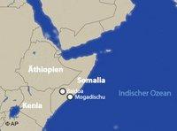 Landkarte von Ostafrika; Foto: AP