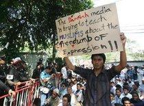 Proteste gegen Mohammed-Karikaturen in Bangkok; Foto: AP