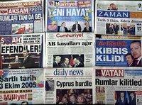 Türkische Tageszeitungen; Foto: AP