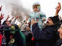 Kurdische Demonstration zum Newroz-Fest; Foto: AP