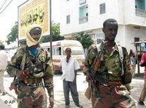 Islamistische Milizen in Mogadischu; Foto: AP