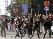 Unruhen auf dem Campus der Arabischen Universität in Beirut; Foto: AP