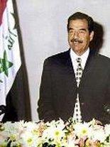 Der ehemalige irakische Diktator Saddam Hussein; Foto: AP