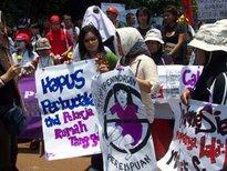 Frauenrechtsdemonstration in Jakarta; Foto: &copy www.rahima.or.id
