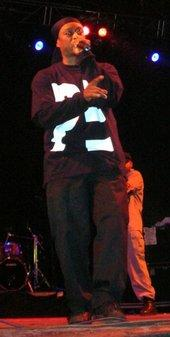 Professor Griff auf der Bühne; Foto: Wikipedia Commons