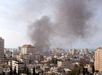 Beschießung von Gaza-Stadt; Foto: AP