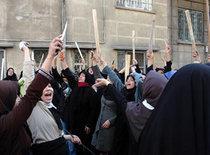 Demonstration für Ajatollah Borudscherdi; Foto: AP