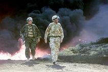 Britische Soldaten während der Operation Desert Storm von 1990; Foto: AP