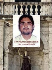 Bild des ermordeten Ajmal Naqshbandi in Rom; Foto: AP