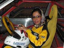 Die iranische Rennfahrerin Laleh Seddigh, Foto: Fatma Sagir