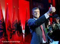 Hashim Thaci nach dem Sieg in den Parlamentswahlen vom November 2007; Foto: dpa