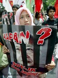Protestierende Studenten in Jakarta; Foto: Picture-Alliance