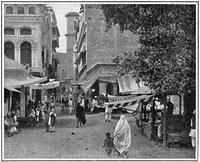 Straße in Peshawar um 1900; Foto: Theodore Leighton Pennell