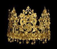 Krone einer Kuschana-Prinzessin; Quelle: National Museum of Afghanistan © musée Guimet/Thierry Ollivier