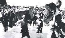 Palästinenser auf der Flucht; Quelle: Verlag zweitausendeins