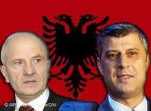 Das Kosovo wird unabhängig: Fatmir Sejdiu und Hashim Thaci; Foto: AP