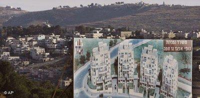 Israelische Siedlung in Ost-Jerusalem; Foto: AP