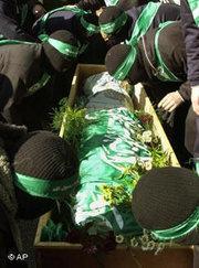 Begräbnis eines Hamas-Aktivisten; Foto: dpa