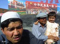Uiguren in der Stadt Korla; Foto: AP