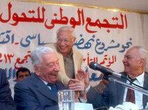 George Ishak während einer Pressekonferenz in Kairo; Foto: AP