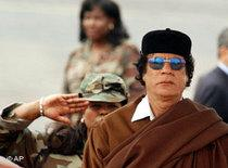 Libyens Staatschef Ghaddafi; Foto: AP
