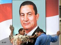 Mubarak-Plakat in Kairo; Foto: AP